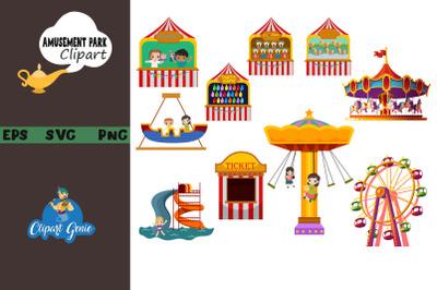 Amusement park clipart & SVG