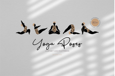 Yoga poses. Wellness, health, hands.