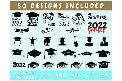 Graduation 2022 SVG Bundle - 30 Designs