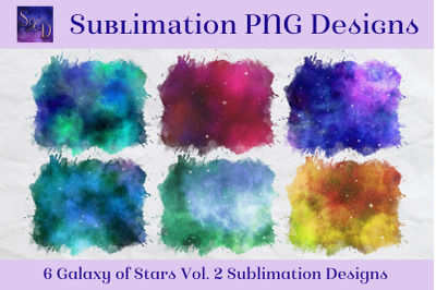Sublimation PNG Designs - Galaxy of Stars Vol. 2
