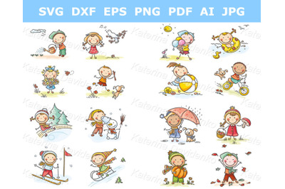 Seasons and Weather clipart set