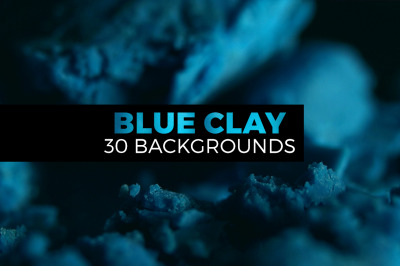 Cold blue clay landscapes