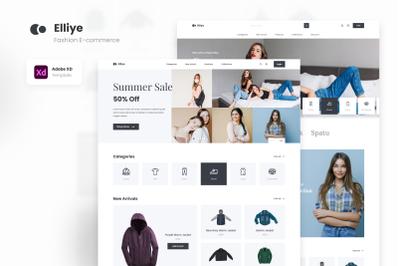 Elliye - Minimalist Fashion E-commerce Figma XD