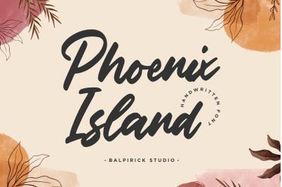 Phoenix Island Handwritten Font