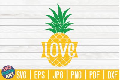 Love Pineapple SVG