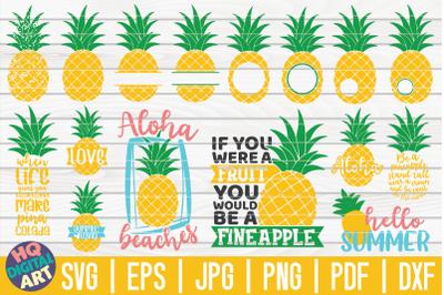 Pineapple SVG Bundle | 16 designs