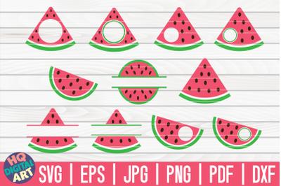 Watermelon Monogram Frames SVG Bundle | 11 designs