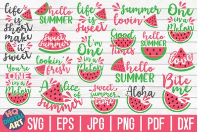 Watermelon Quotes SVG Bundle | 17 designs