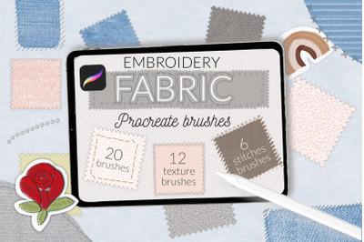 Fabric embroidery Procreate brushes