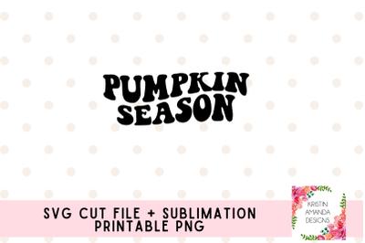 Pumpkin Season Fall SVG and Sublimation PNG