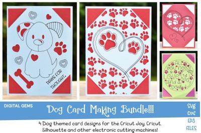 Dog card bundle! Works with the Cricut Joy!