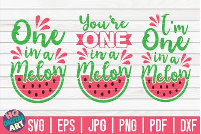0ne in a melon SVG Bundle | 3 Variations
