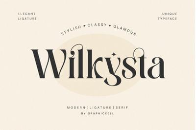 Wilkista Stylish Ligature Typeface