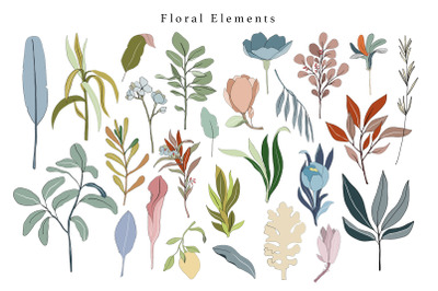 26 Digital floral collection - PNG clipart collection, Beautiful flora