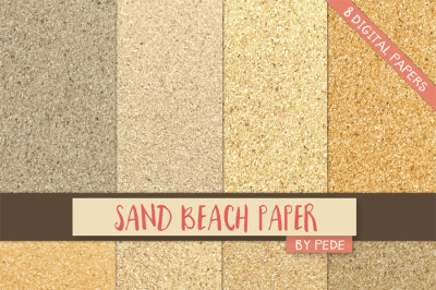 Sand beach digital paper pack