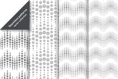 Waved halftone seamless patterns