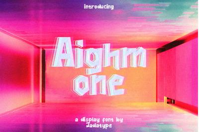 Aighmone Display Font