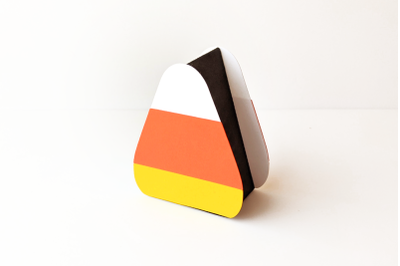 Candy Corn Shaped Gift Box | SVG | PNG | DXF | EPS
