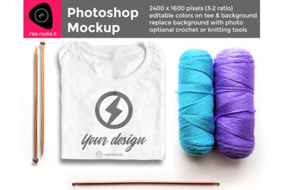 Yarn Craft Tee Shirt | Photoshop Mock Up