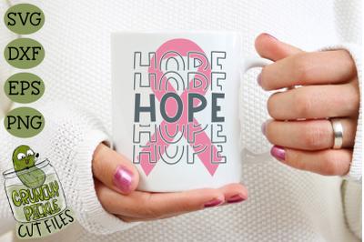Breast Cancer Ribbon Hope SVG File