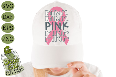 Breast Cancer Ribbon Pink SVG File