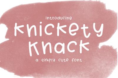 Knickey Knack Font