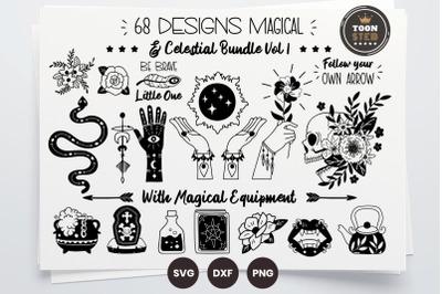 68 DESIGNS Magical & Celestial Bundle Vol 1