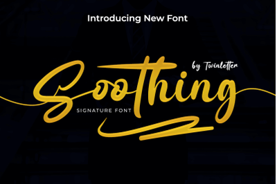Soothing signature font