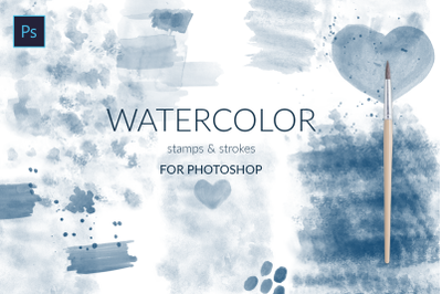 Watercolor strokes for Photoshop