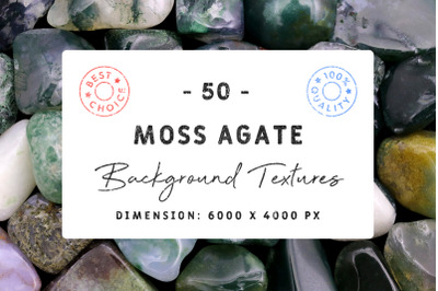 50 Moss Agate Background Textures