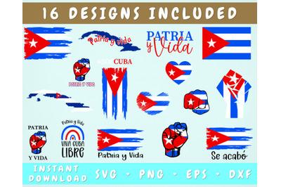 Patria y Vida SVG Bundle - 16 Designs, VIva Cuba Libre SVG