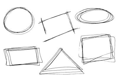 Hand drawn geometric frames