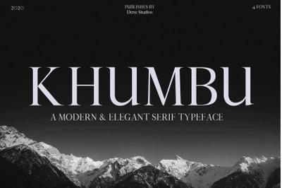 Khumbu typeface