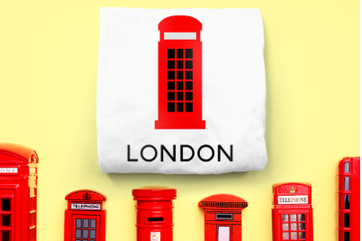 British Phone Booth | SVG | PNG | DXF | EPS