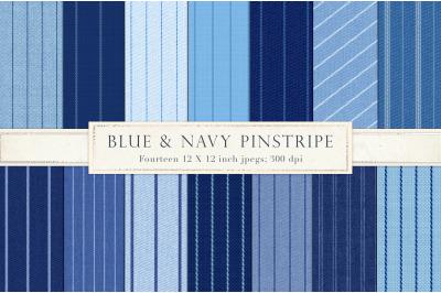 Blue pinstripe digital paper
