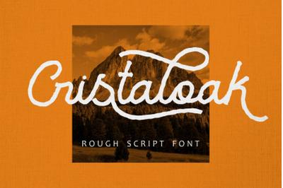 Cristaloak - Rough Script Font
