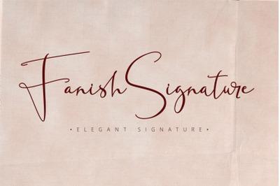 Fanish Elegant Signature Font