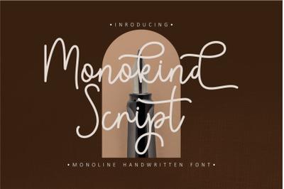 Monokind Script - Monoline Handwritten