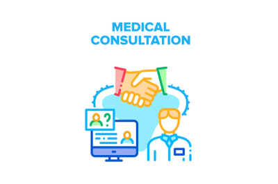 Medical Consultation Advise Vector Concept Color