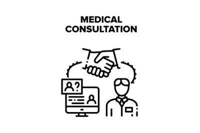Medical Consultation Advise Vector Concept