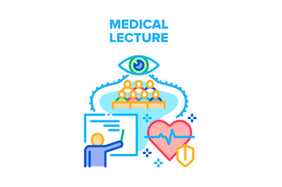 Medical Lecture Vector Concept Color Illustration