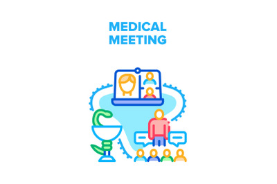 Medical Meeting Vector Concept Color Illustration