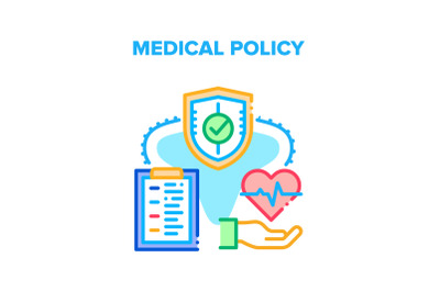 Medical Policy Vector Concept Color Illustration