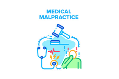 Medical Malpractice Error Vector Concept Color