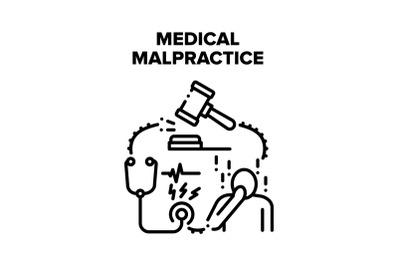 Medical Malpractice Error Vector Concept