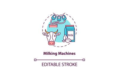Milking machines concept icon