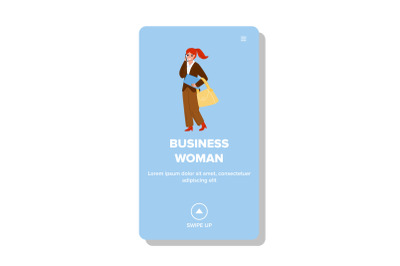 Business Woman Talk With Partner On Phone Vector