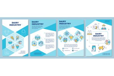 Dairy industry brochure template
