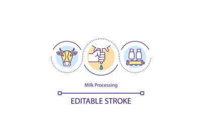 Milk processing concept icon