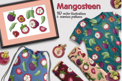 Mangosteen - elements and patterns